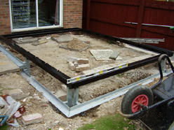 conservatory kit steel base and modular wall